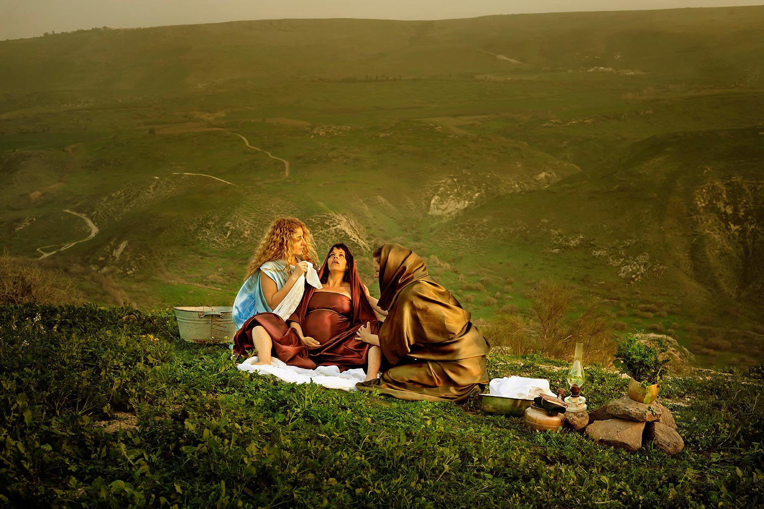 """Shifrah and Puah, the Hebrew Midwives, """"and did not as the king of Egypt commanded them, but saved the men-children alive."""" Exodus 1 ;17"""