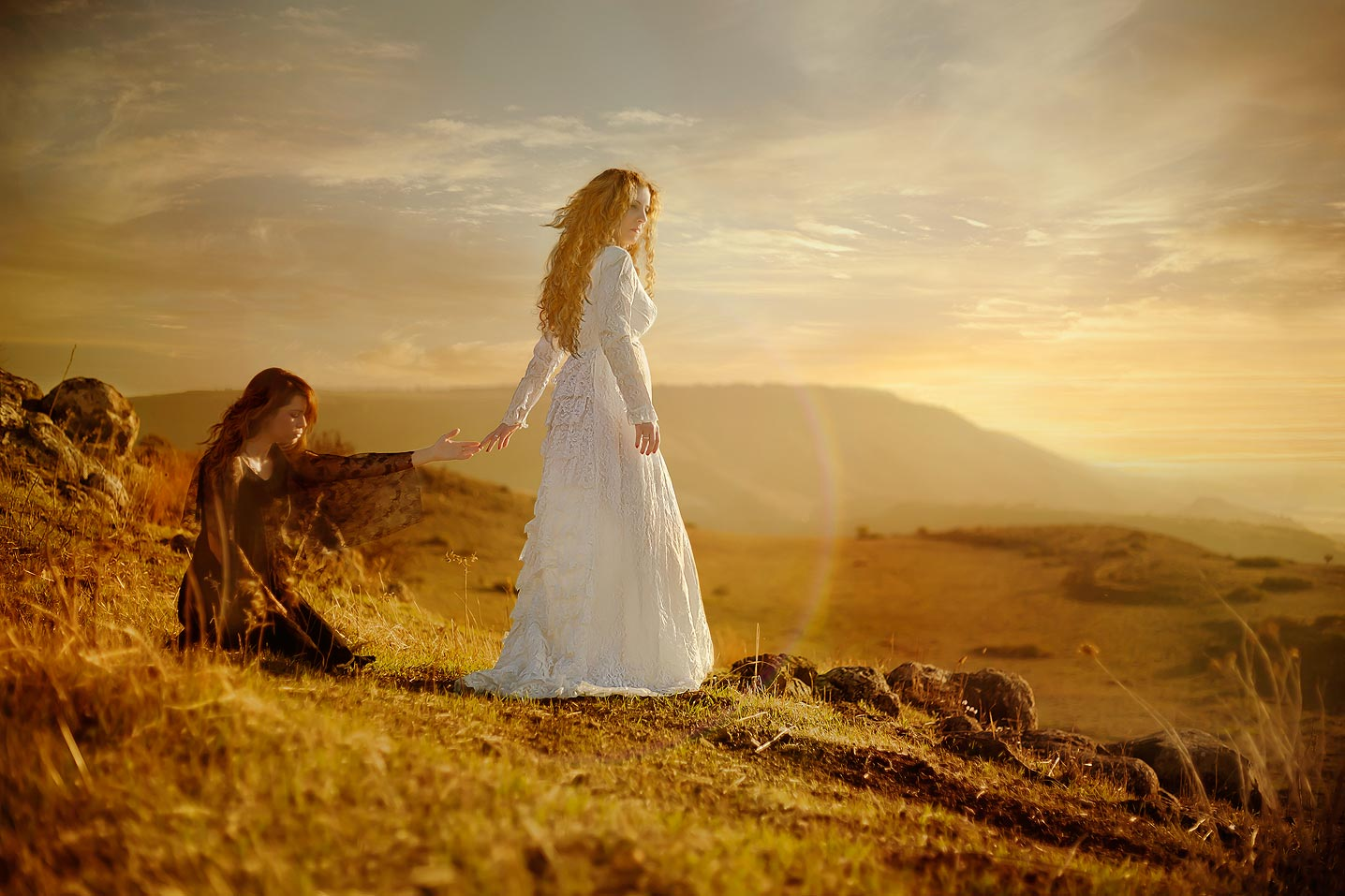 Rachel & Leah, ״Refrain thy voice from weeping, and thine eyes from tears;״Jeremiah 31;15