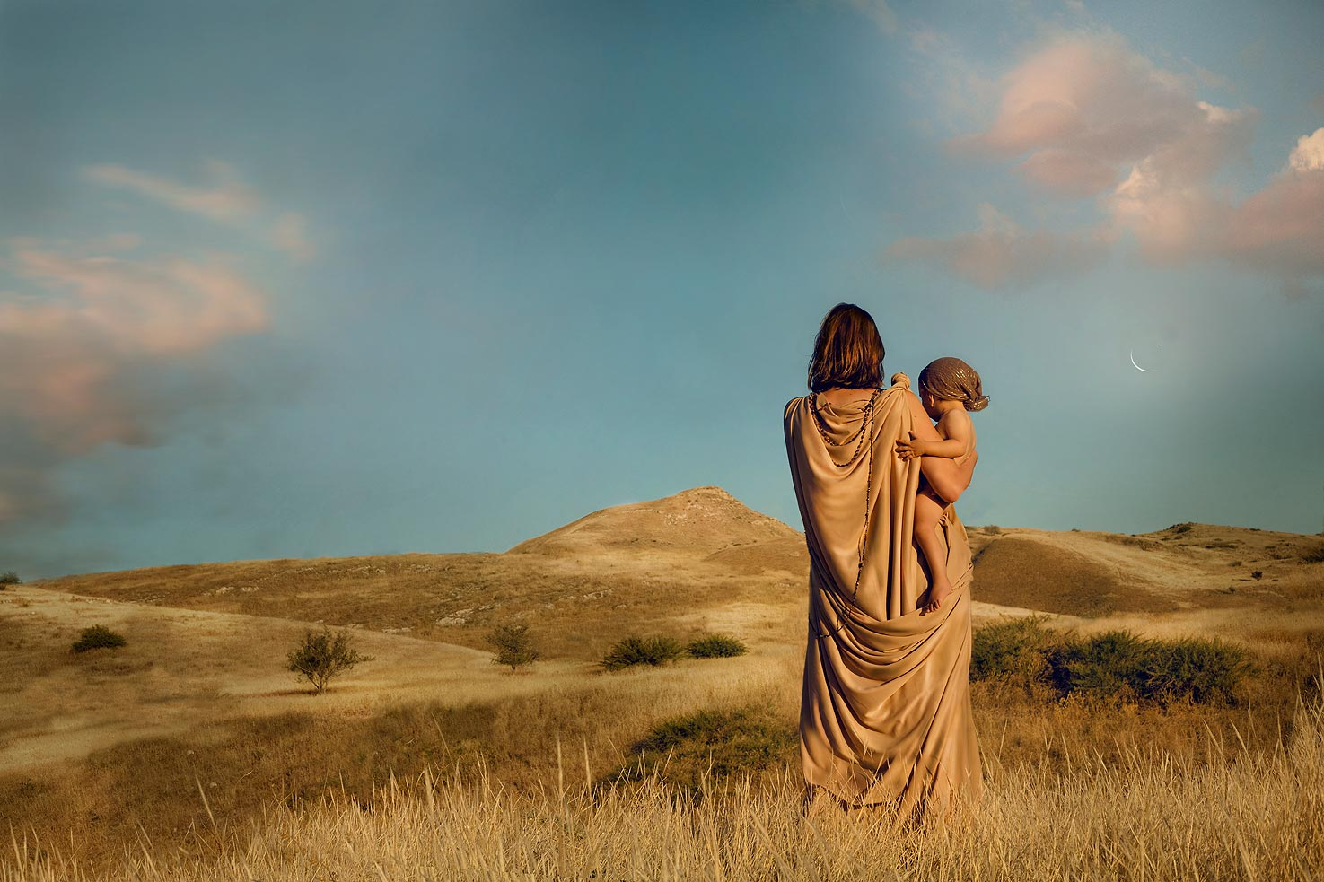 Hagar & Ishmael ״And God heard the voice of the lad; and the angel of God called to Hagar out of heaven, and said unto her: 'What aileth thee, Hagar? fear not; for God hath heard the voice of the lad where he is. . ״Genesis 21;17