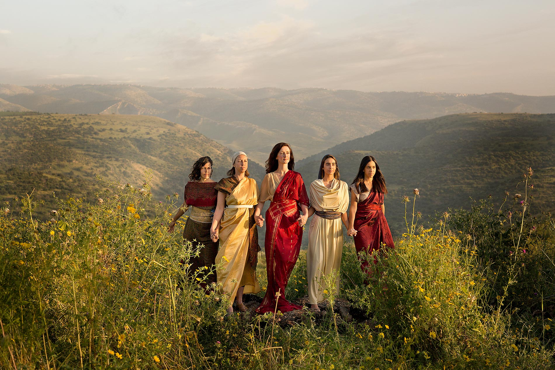 The daughters of Zelophehad, Mahlah, Noah, and Hoglah, and Milcah, and Tirzah.  'Why should the name of our father be done away from among his family, because he had no son? Give unto us a possession among the brethren of our father.'  Numbers 27, 4
