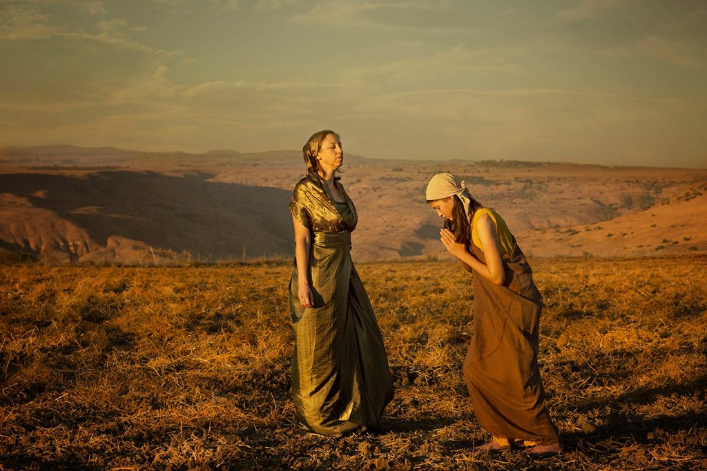 "Little maid and Naaman's wife ""And the Arameans had gone out in bands, and had brought away captive out of the land of Israel a little maid; and she waited on Naaman's wife. And she said unto her mistress: 'Would that my lord were with the prophet that is in Samaria! then would he recover him of his leprosy.' "" kings 2, 5 2-3"